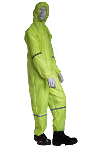 Polyester Coverall high vis yellow
